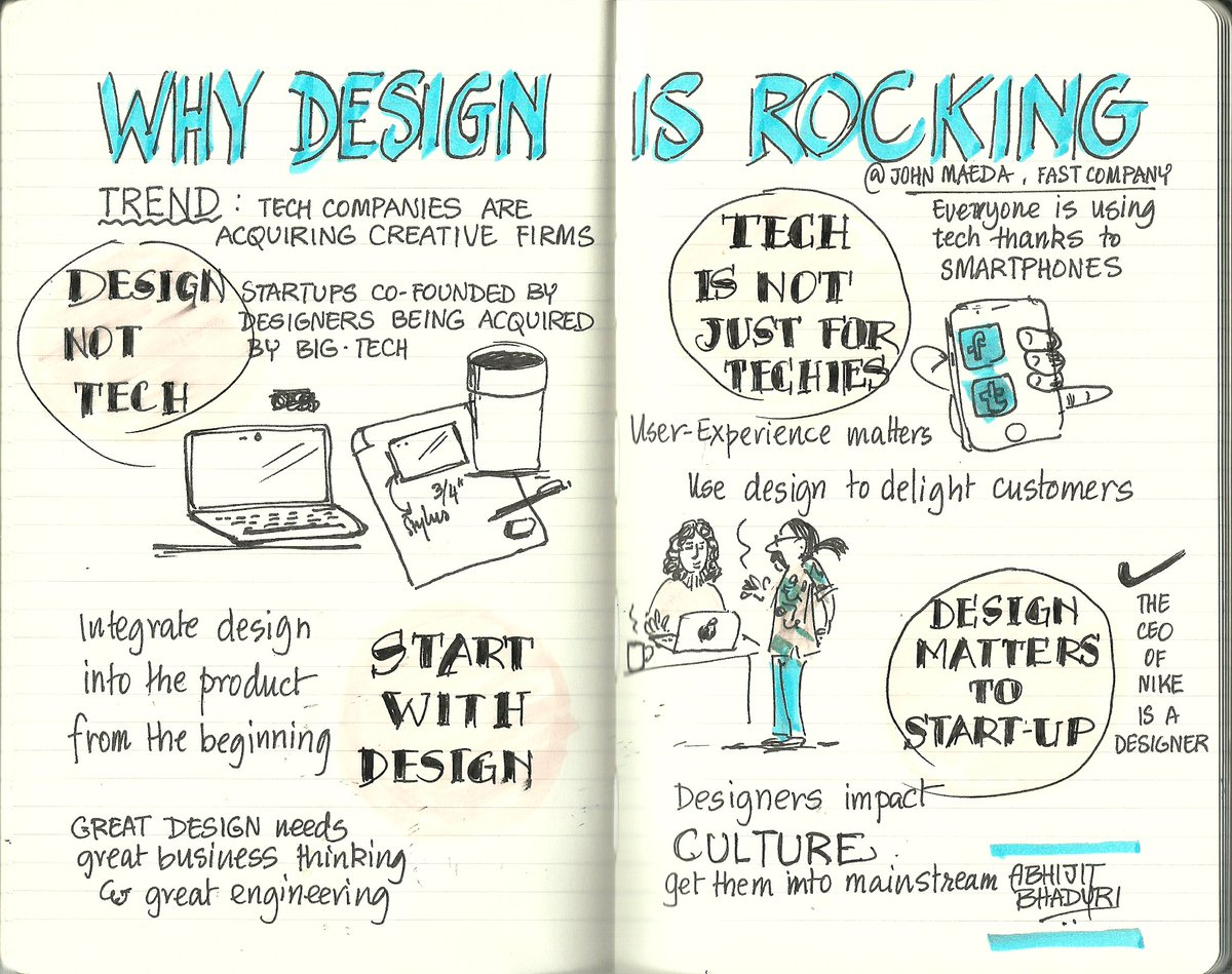 Four reasons why #Designers are becoming important by @johnmaeda https://t.co/7spgneU4uW #Sketchnotes https://t.co/PFiAz9Mwwq