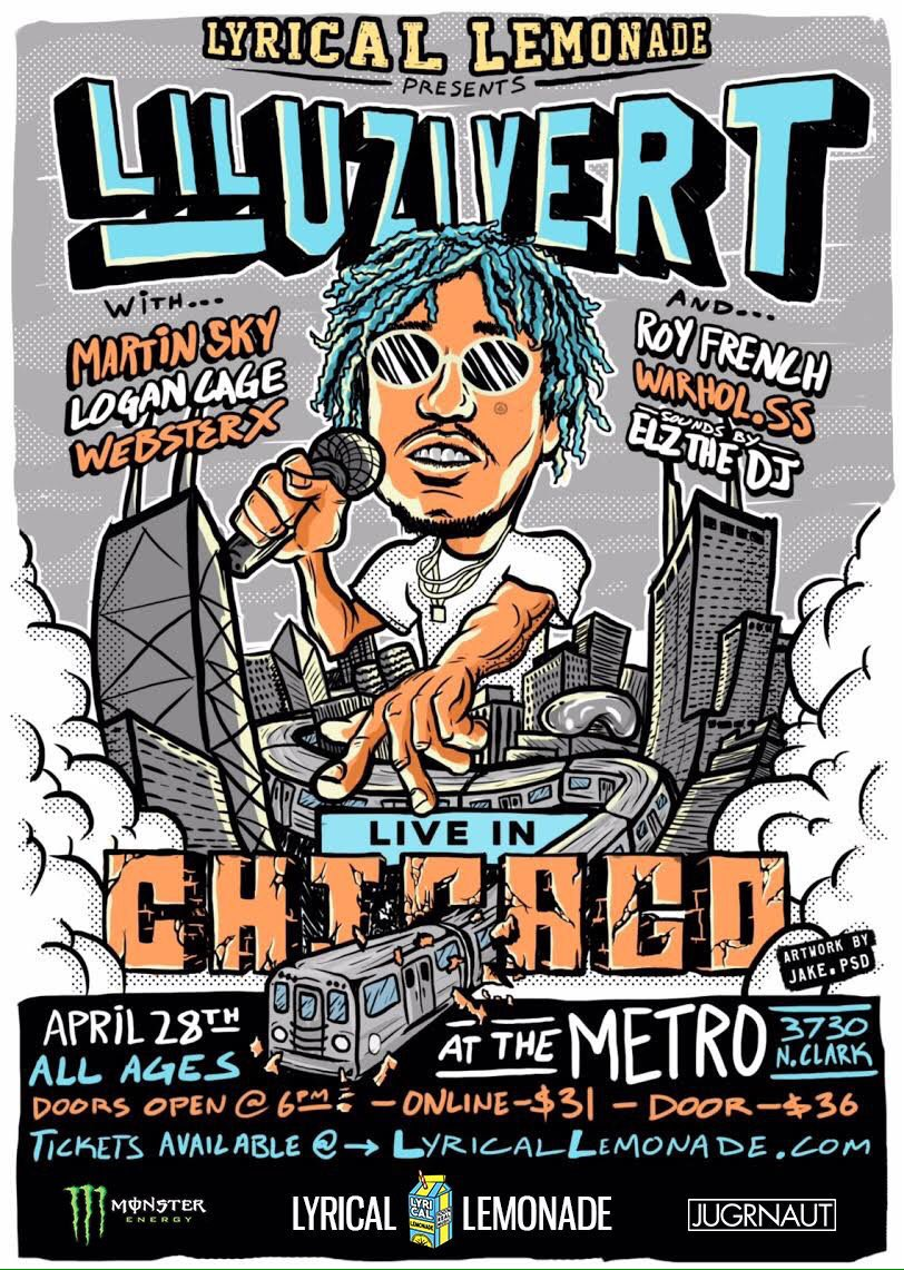 Yes.. Lil uzi vert , @ElzTheDJ & Roy French  LIVE @ the Metro  via @LyricaLemonade. RT + Follow to win tickets https://t.co/oLXn0Ixe7A