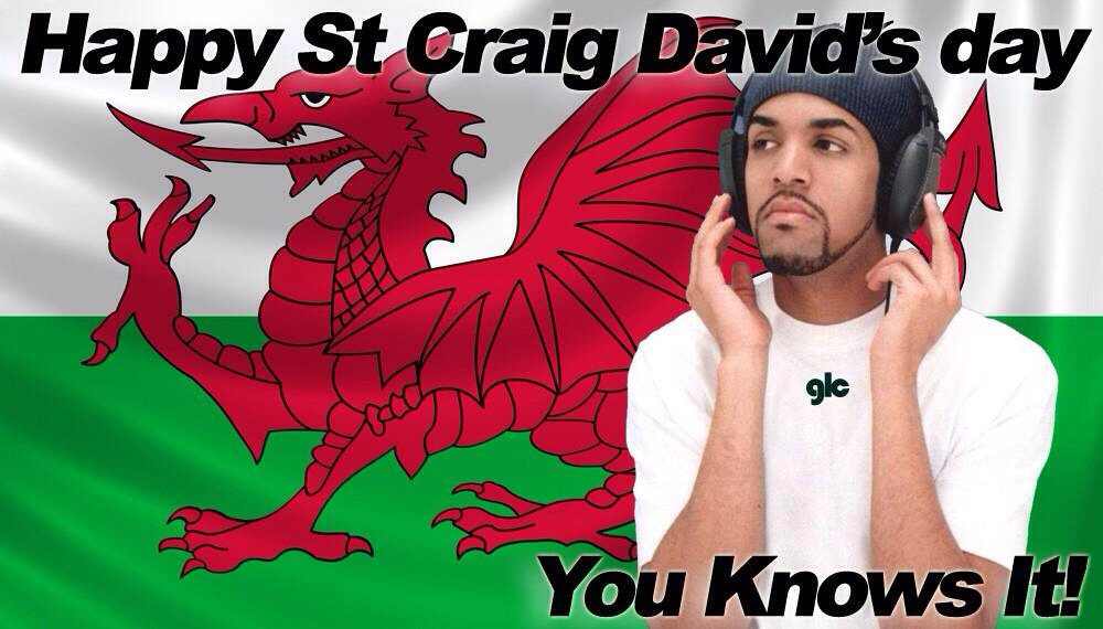 It's that time of year again! Happy St Craig David's day #CraigDavid https://t.co/GZxe2LJbp2