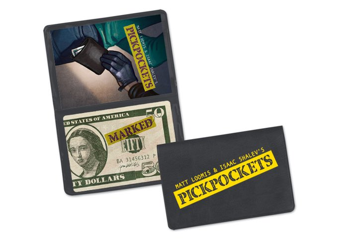 Our next Wallet Game is live on Kickstarter. Pickpockets by @mrtopdeck & @KindFortress. $8!! https://t.co/awWLSEuDmK https://t.co/ZMv4Aiz16O