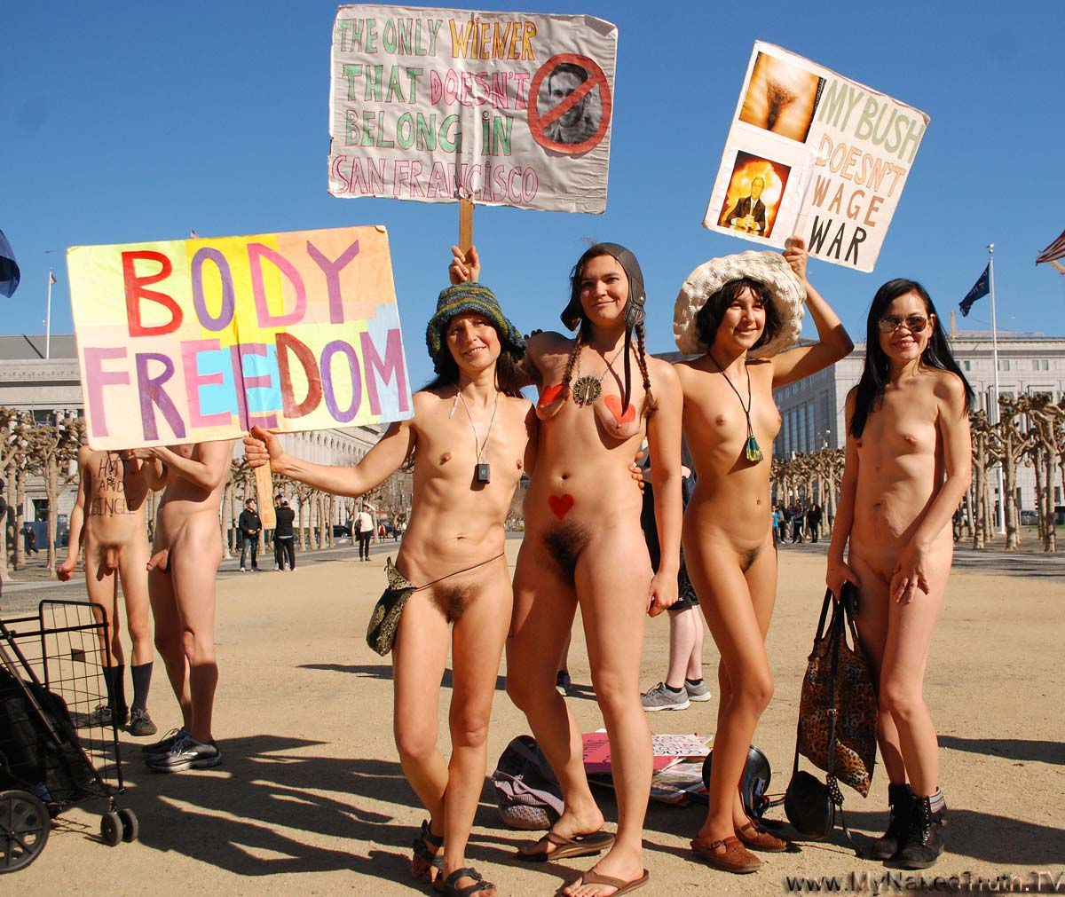 The junior nudist parade are