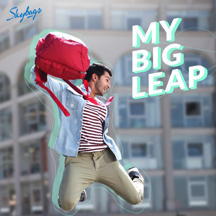 Replying to @Varun_dvn: I've just taken #MyBigLeap. Ready for yours? Send a picture of your Big Leap to @InSkybags