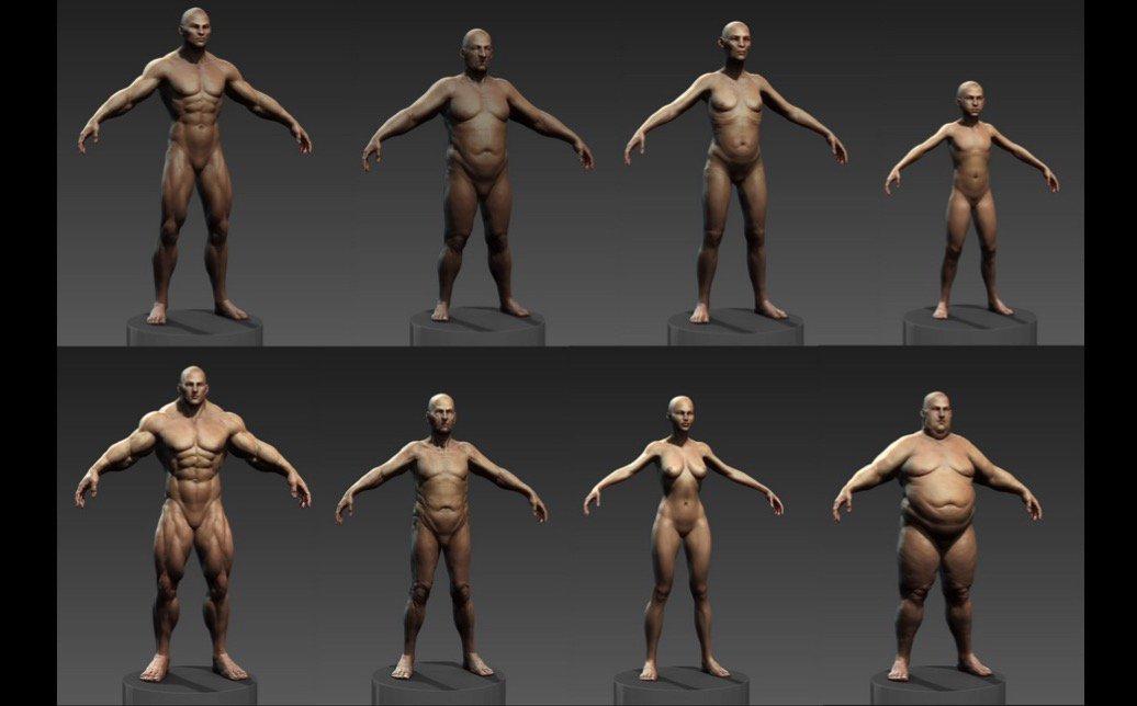 人体ベースメッシュを一発で作成してくれる神のようなプラグイン「Human ZBuilder」!カスタマイズも簡単にできてお値段250USドル!