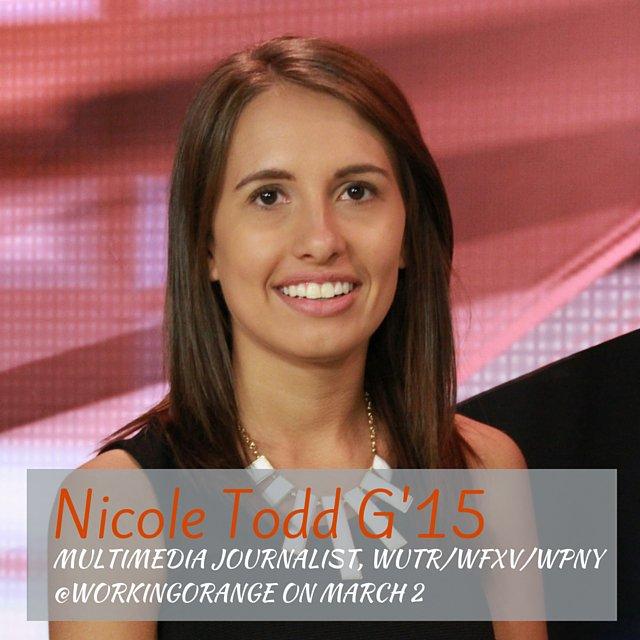 Thumbnail for @NicoleTodd_WUTR takes over as @WorkingOrange, 3/2/16