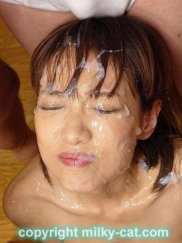 Asian facial bukkake