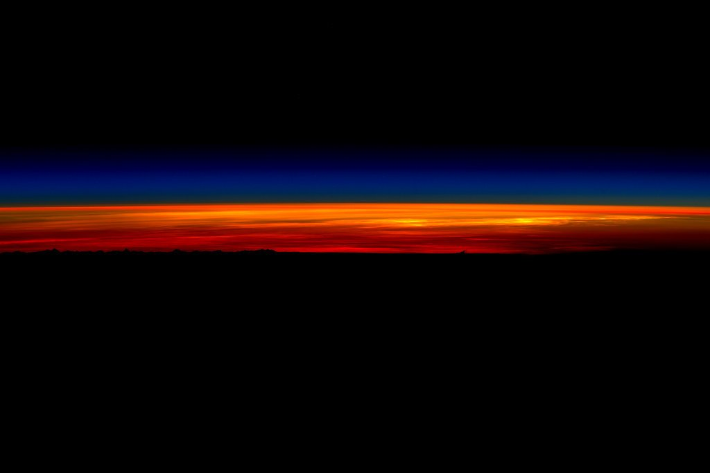 Rise and shine! My last #sunrise from space then I gotta go! 1 of 5. #GoodMorning from @space_station! #YearInSpace