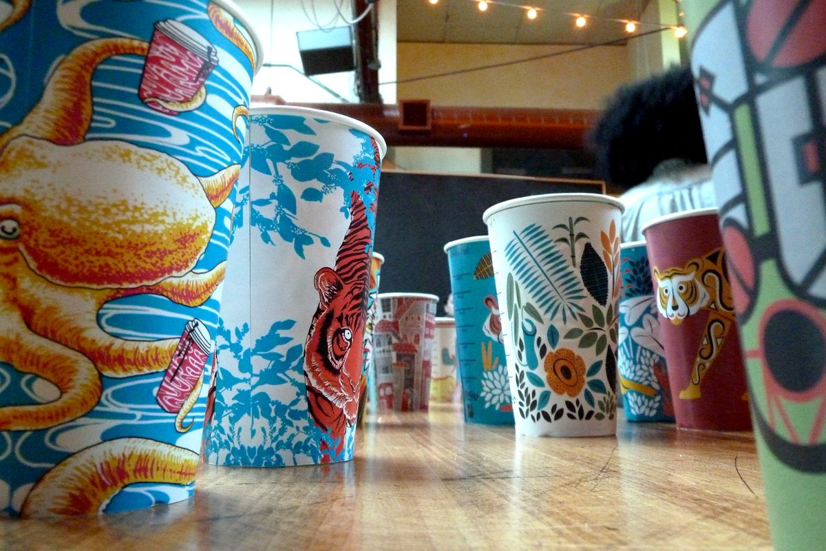 Check out these Colectivo cup designs! #MIAD students' designs will be featured in stores this month! https://t.co/0XipFGdCM7
