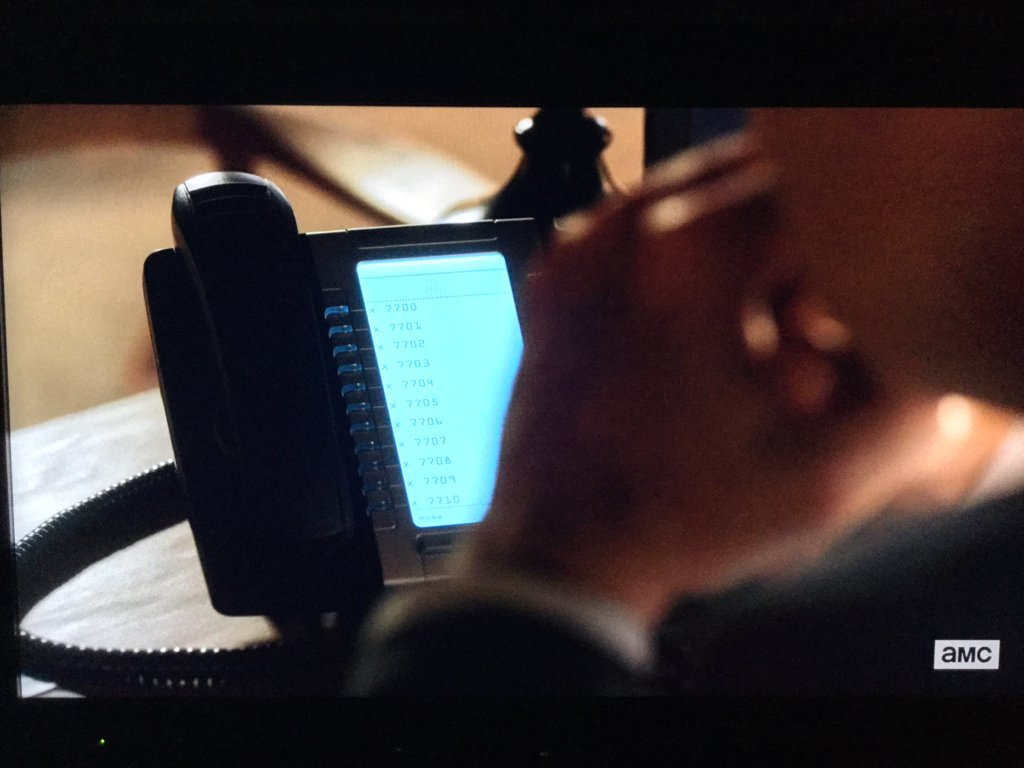 .@Mitel phones on @BetterCallSaul last night! Wait, was the 5330 around in 2002? https://t.co/770IX0VRMD