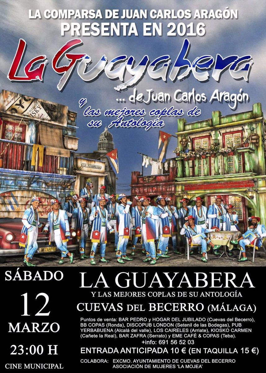 LA GUAYABERA Y ANTOLOGÍA el 12 de Marzo en Cuevas del Becerro (Málaga)  @comparsajc @CAPITANVENEN0  #LaGuayabera