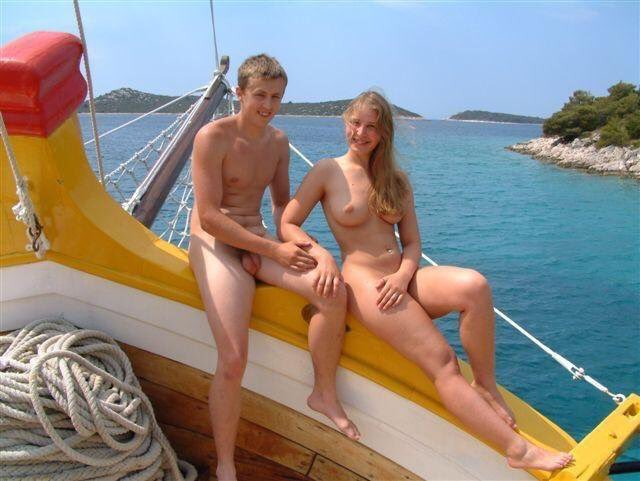 Join. Girl naked on boat ride
