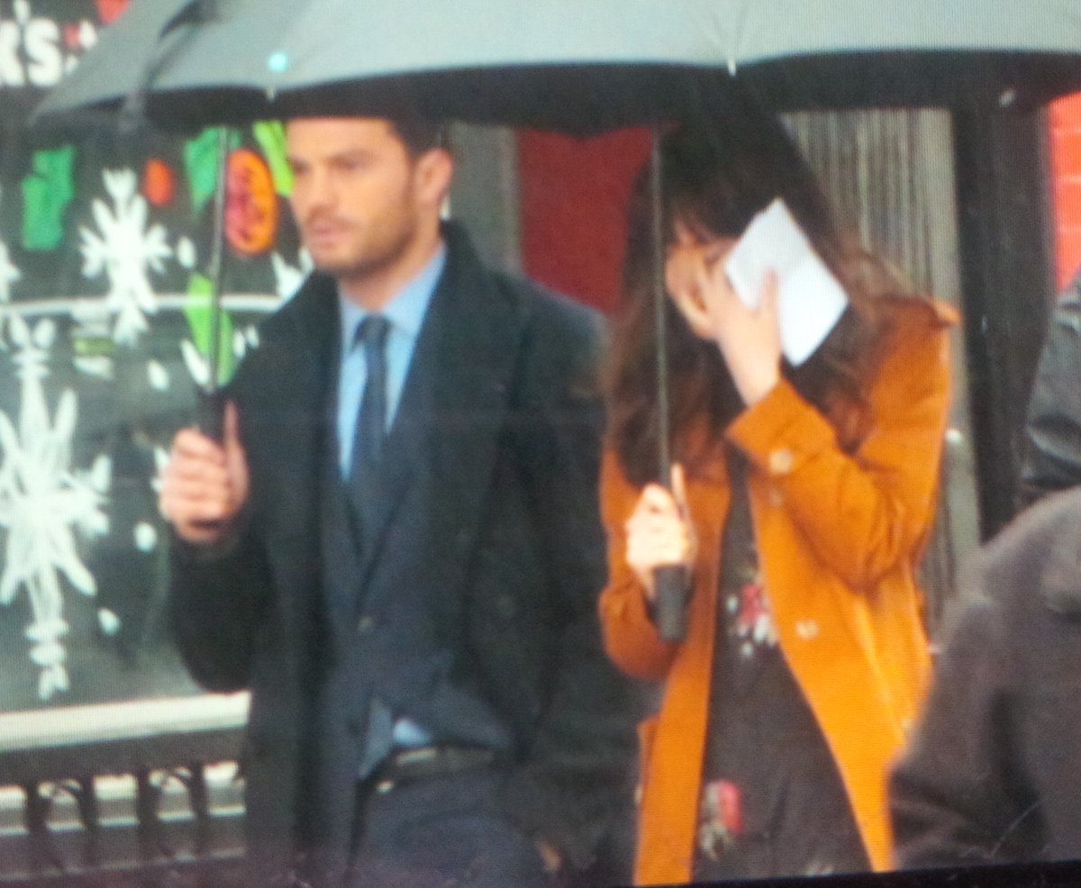 #FiftyShades stars Jamie Dornan and Dakota Johnson walk to rehearsals #FSOG #FSD #FSF https://t.co/ftS3W3hWjc