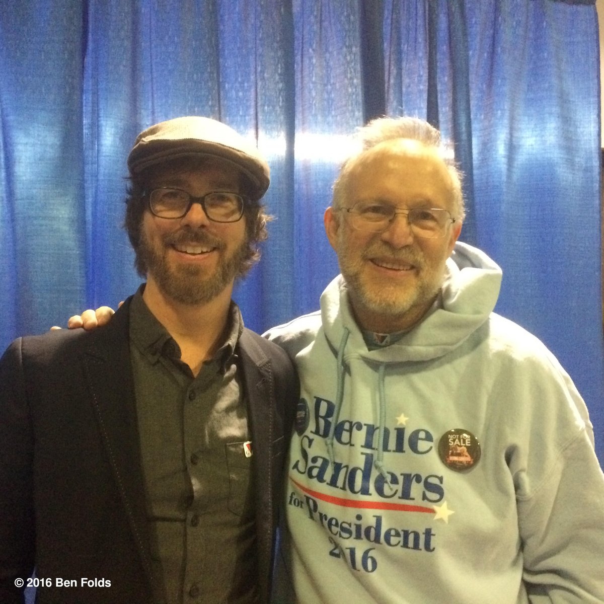 With Jerry Greenfield - Ben&Jerry's (drum roll) Supporting Bernie in Vermont #feelthebern #supertuesday https://t.co/WA21IhbtWQ