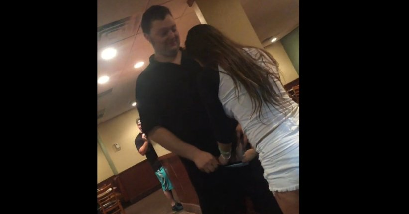 Girl gives bj as a tip to dennys waiter