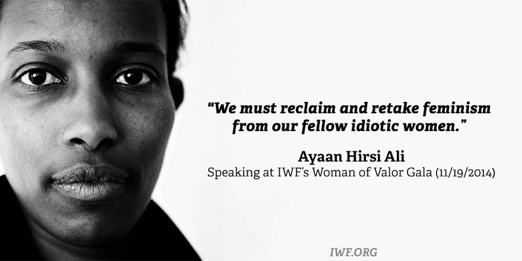 .@Ayaan speaking at @IWF's 2014 #WomanOfValor. #WomensHistoryMonth https://t.co/a8KtctQ2VM