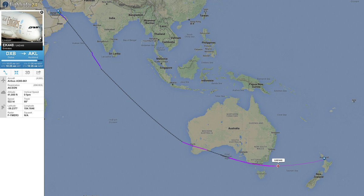 Emirates Plane Completes Worlds Longest Nonstop Scheduled - The 14 longest non stop flights in the world
