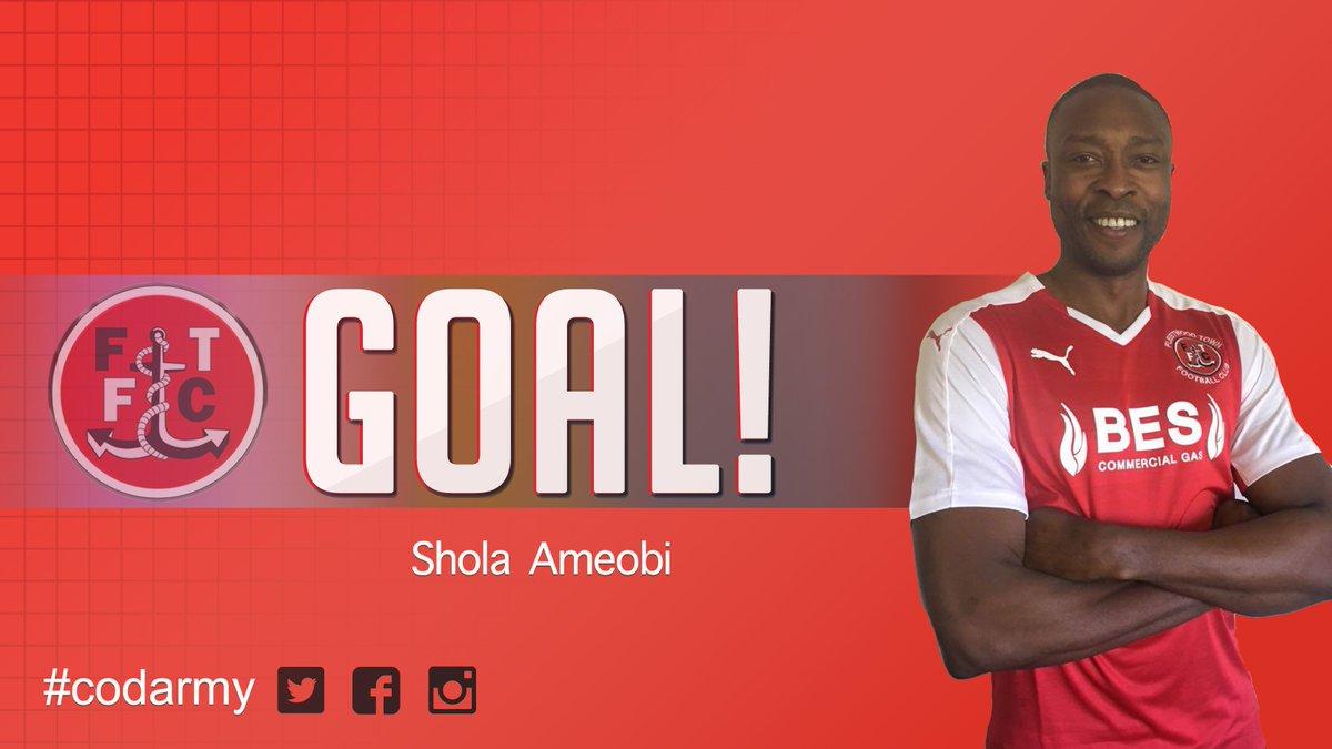 GOOOOOOOOOAAAAAAAAALLLLLLLLLLLL!!! Shola Ameobi scores his first goal for @ftfc! 2-0 (9) #codarmy https://t.co/5qH0i0iy0x