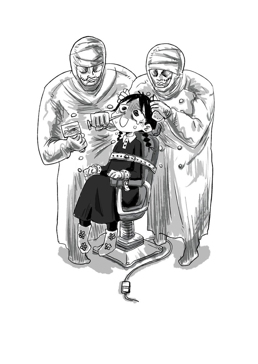 望まない医療に人間性を奪われようとしている秋田の少女のイラストです https://t.co/007QD5cFus
