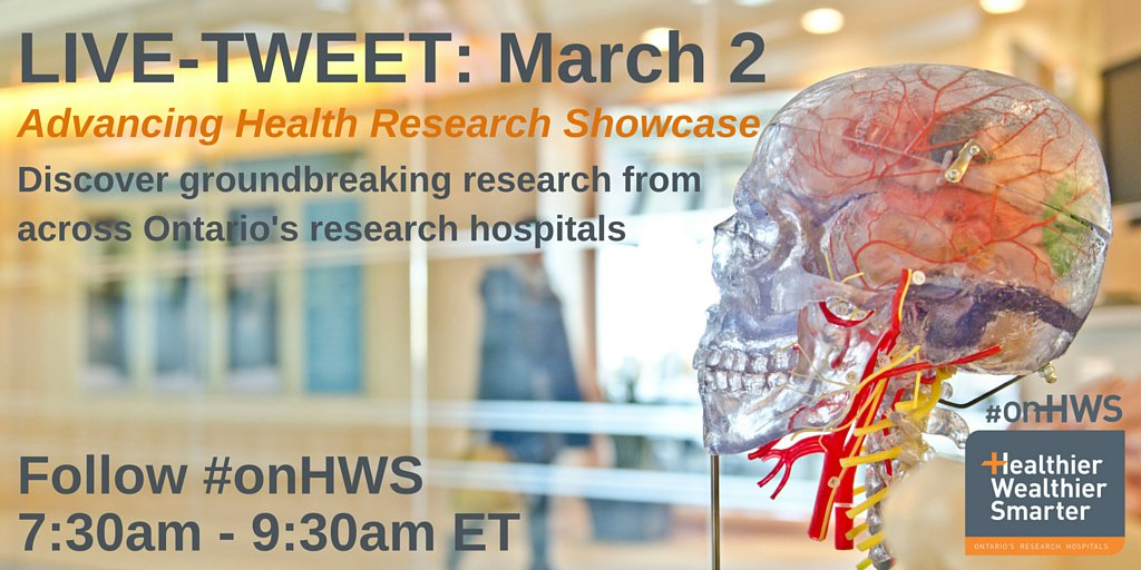 Inspiration to start your day? #onHWS is live-tweeting an Ontario #health #research showcase #hcsmca https://t.co/LSElxsveZV