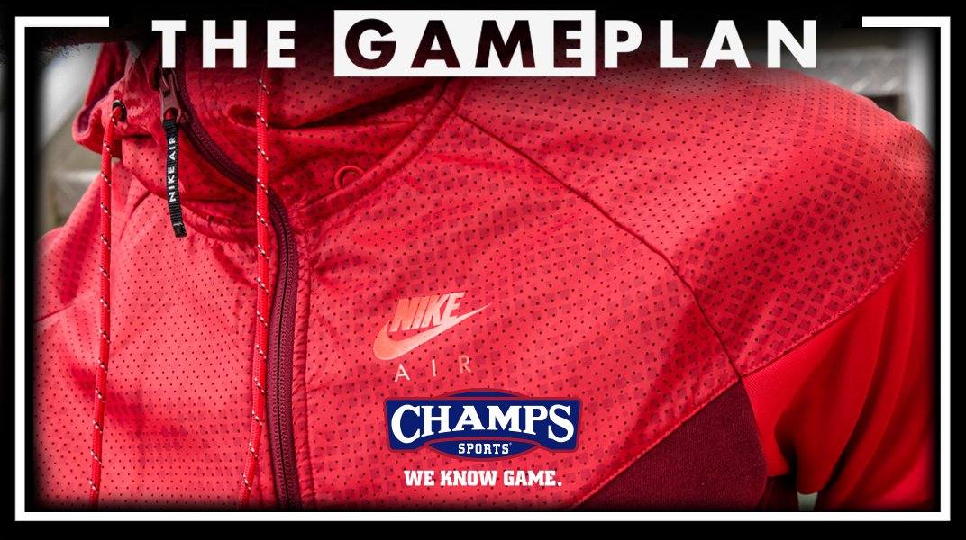 5bc56b30aa91b2 the latest gameplan from champssports features the nike hybrid fleece  windrunner