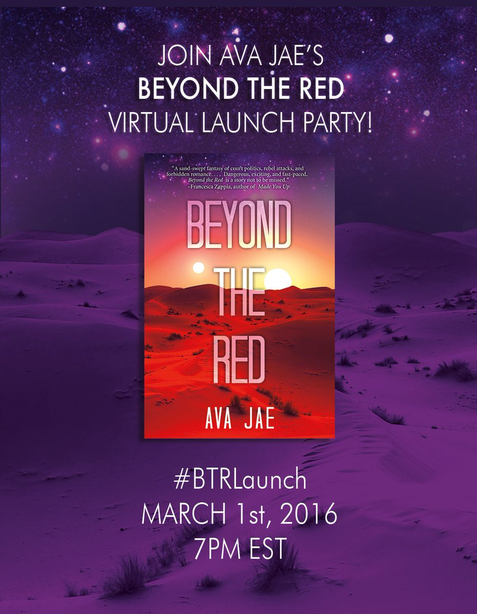 Just a couple hours until BEYOND THE RED's virtual launch party! Are you in? :) #BTRLaunch https://t.co/k9MNHtCkjO