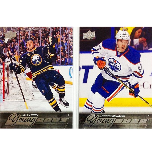 Connor McDavid & Jack Eichel face off tonight for the 1st time. Which #YoungGuns rookie are you collecting? @NHL https://t.co/O9IREGEPi2