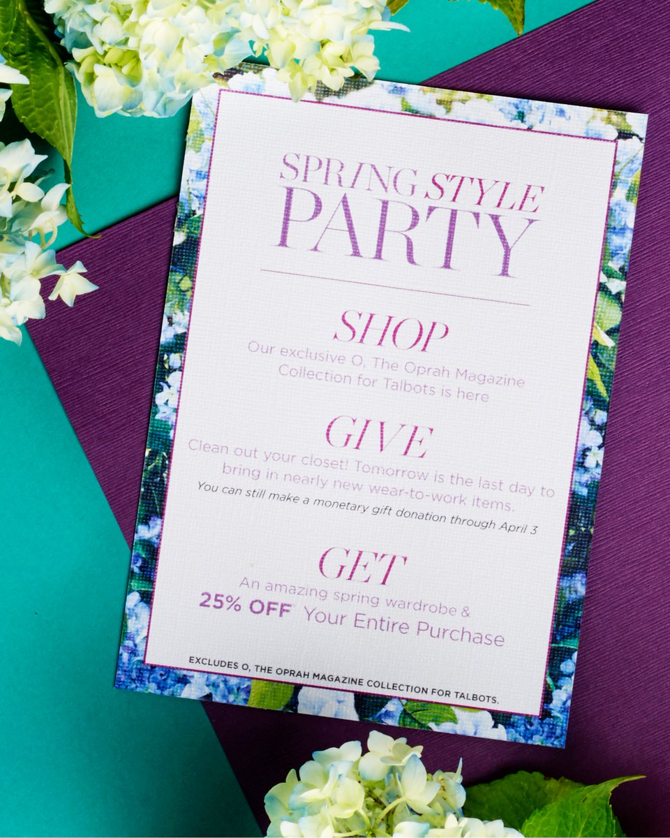 Shop, give, and get! Join us in stores on 3/5/2016 for our Spring Style Shopping Party! https://t.co/n1ZgYWcLfp https://t.co/tJoXKH8vCa