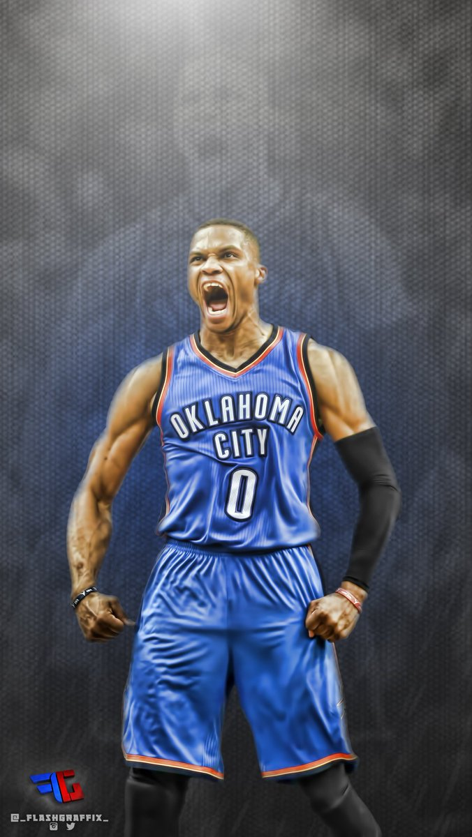 Sports Wallpapers On Twitter Russell Westbrook Wallpaper By FlashGraffix Tco P0GVVapc7b