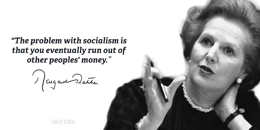 Margaret Thatcher on socialism. #WomensHistoryMonth https://t.co/6VFBtnyibS
