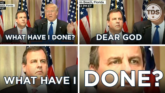 There's just one question on Chris Christie's mind.  #SuperTuesday