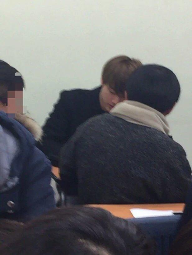 picture  bts jin  u0026 jungkook went to school  160302
