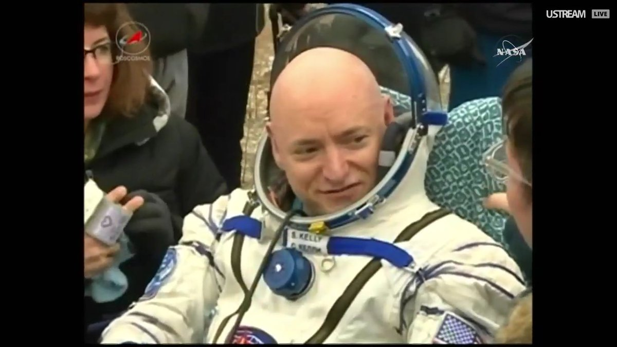 . @StationCDRKelly is back on the ground after 340 days in space. Live:https://t.co/51VD1GH6vK https://t.co/Gm1yY7sslu