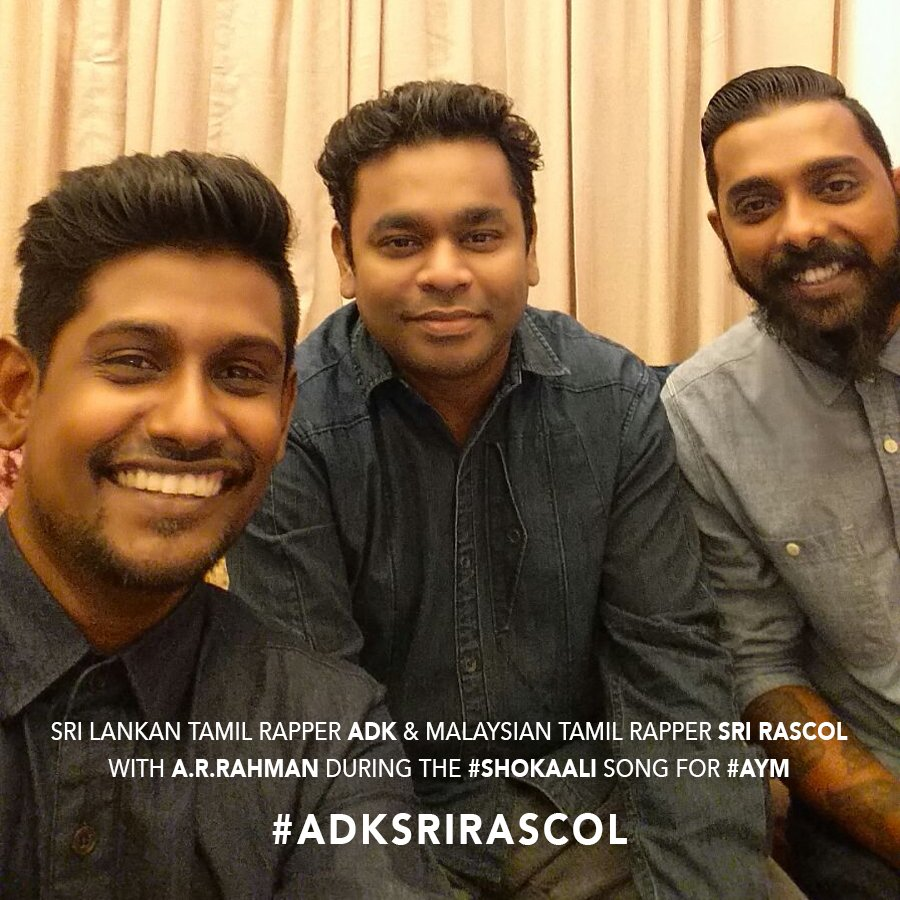Happy to work with dear A.R.Rahman sir once again and also proud to announce that Malaysian rapper Sri Rascol #AYM https://t.co/x7MX7XXUFx