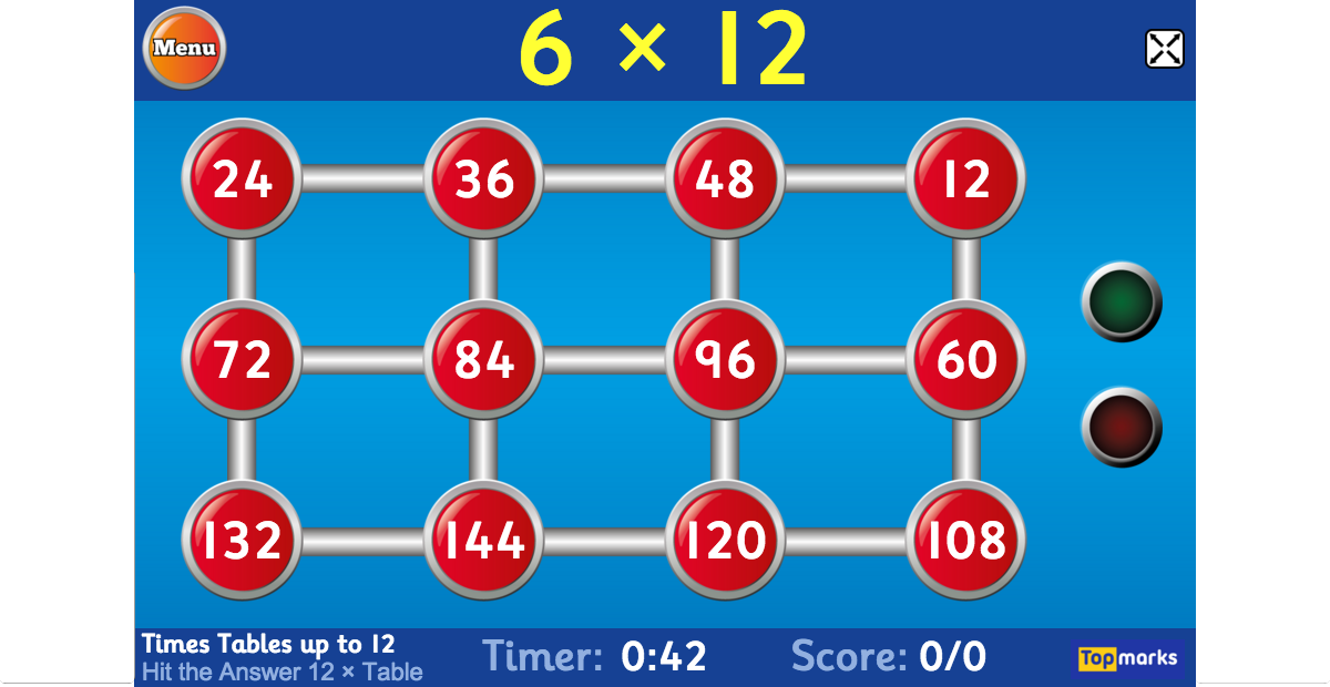 Maths times tables test games multiplication target - Multiplication table games online free ...