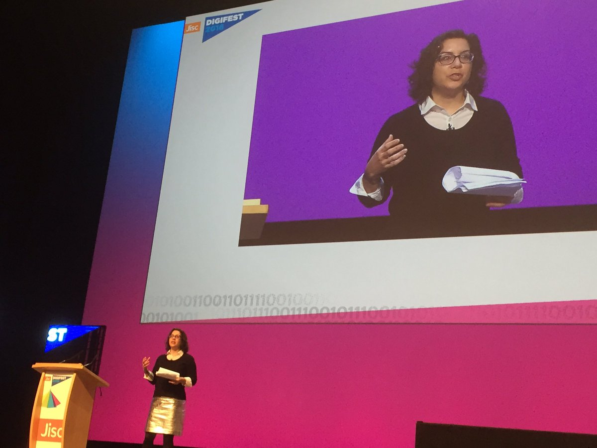 Great to have @DonnaLanclos @Jisc #digifest16 thinking of digital as a place https://t.co/Fdz3Fgthq5