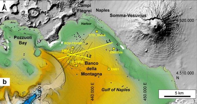 Pericolo vulcani nel mare del Golfo di Napoli? Mai come Campi Flegrei, il Vesuvio e Ischia