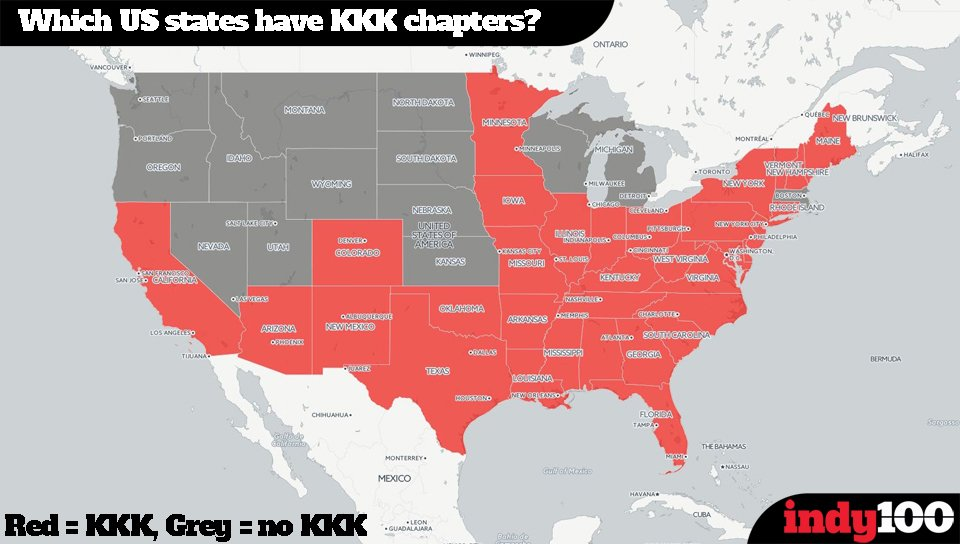 Miriam Cady On Twitter Independent There Is Definitely A Kkk - Kkk us map howell