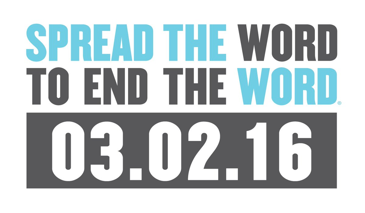 Today is a great day to end the #Rword! Join us and take the pledge for #Respect at https://t.co/RDjUL0AfOC now! https://t.co/BGrv9RYOQQ