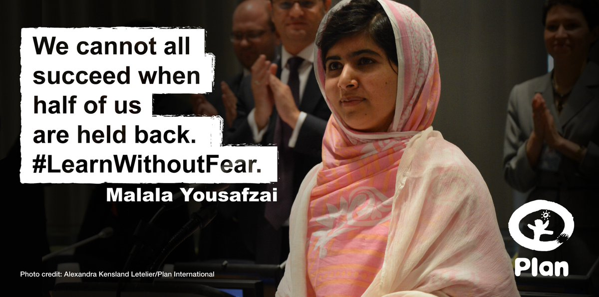 62m girls globally don't go to school – violence is one reason why. RT if you agree w/t #Malala. #LearnWithoutFear https://t.co/49cx85g1d8