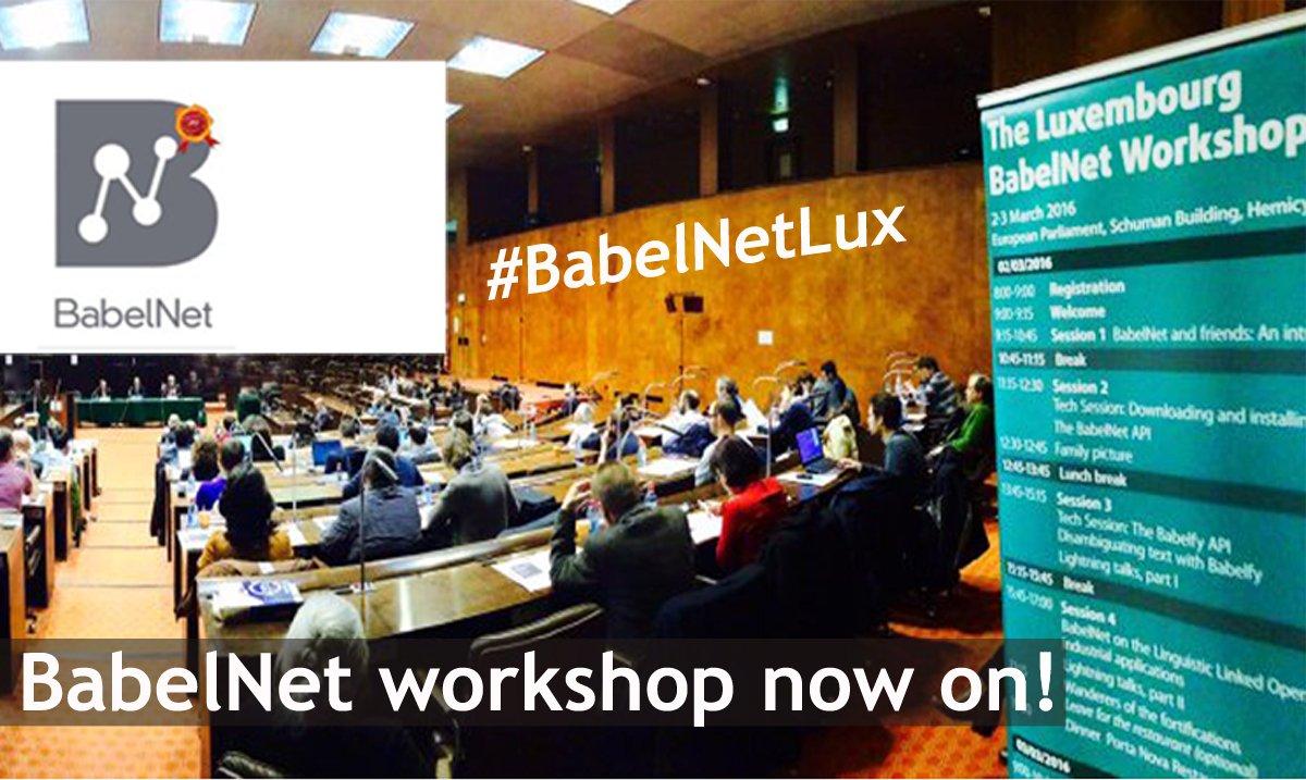 #BabelNetLux 'Linguistic Linked #OpenData Cloud + Industrial applications' @RNavigli https://t.co/LMuNfPM0iy https://t.co/UYEwfgkgvU
