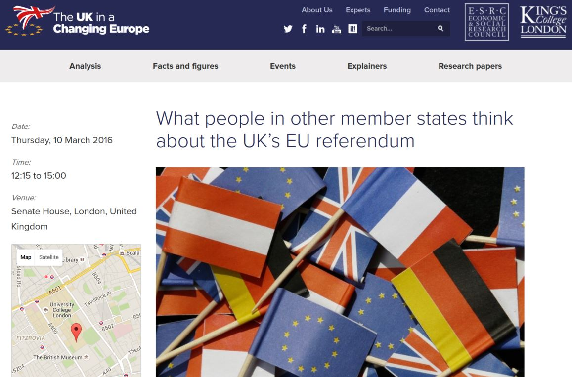 Thumbnail for The view from the continent: what people in other EU member states think about the UK's EU referendum.