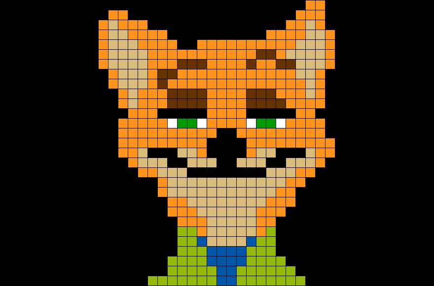 brik pixel art on twitter new pixelart template zootopia fox 8bit disney