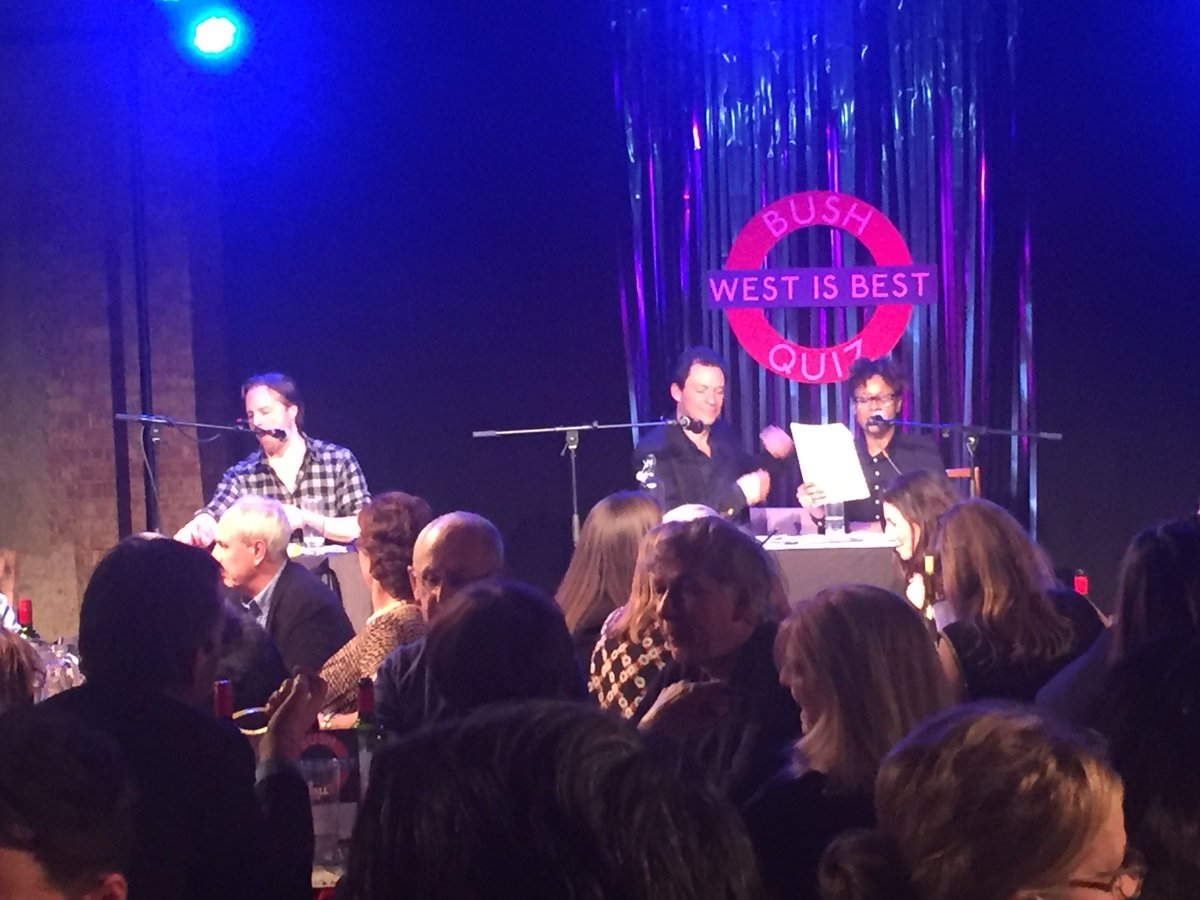 #westisbest quiz @bushtheatre - a brilliant night all round. Huge thanks to @exitthelemming Dominic West and all. https://t.co/Lbwmtx08IX