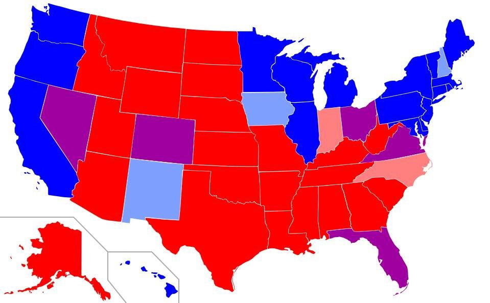 Hillary's wins all come from Republican states, she still hasn't won a Blue state (tied Iowa & MA). #feelthebern https://t.co/YmGEMxzycc