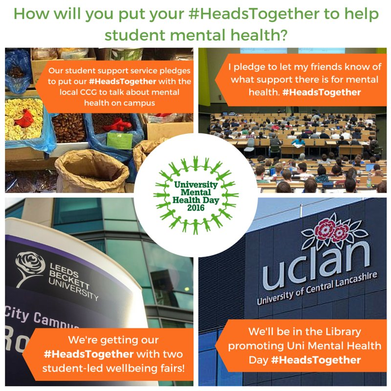 We're collecting #HeadsTogether pledges! What are you doing to help #studentmentalhealth? #StudentChats https://t.co/qn4KBXLBUd