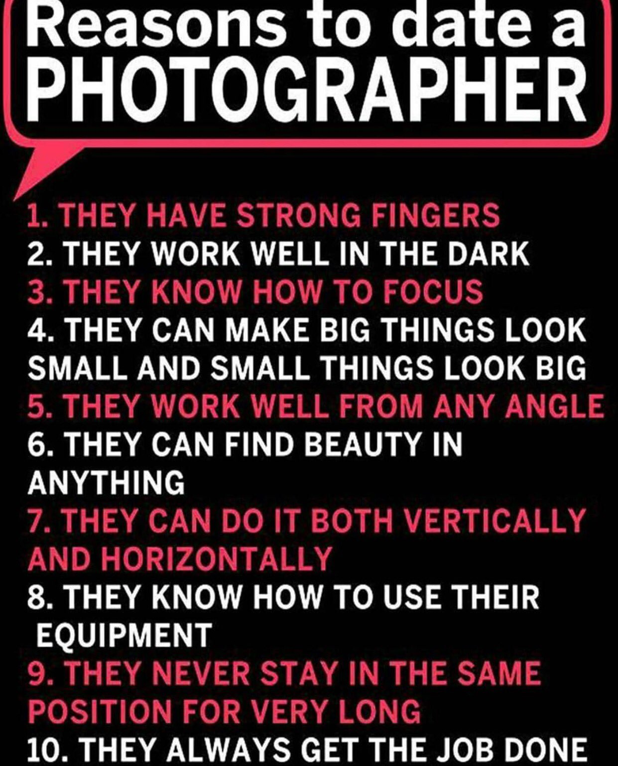 Perks of dating a photographer