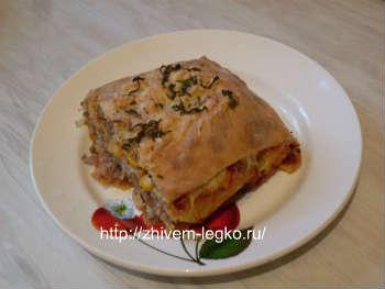 Рецепт лазаньи с фаршем и грибами