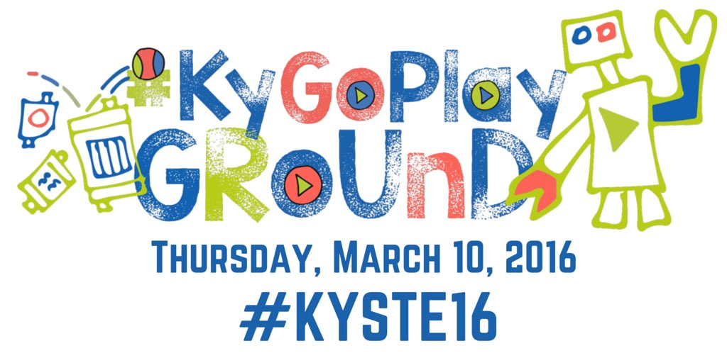 One week away! We can't wait! There will be so much to do at the #KyGoPlayGround #KySTE16 @kystetech #KyEdChat https://t.co/fY9M94ZErR