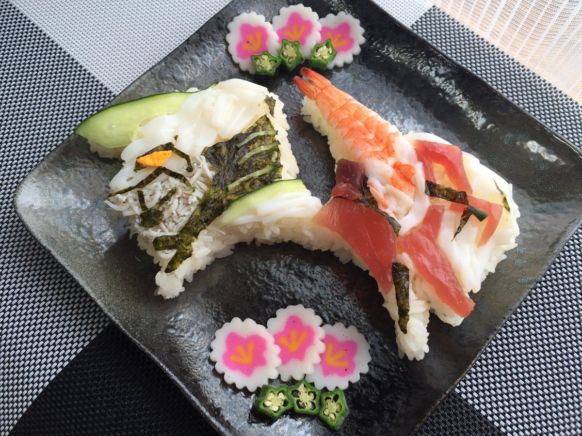 今日はひっなまつり〜! なのでバディちらし寿司作ったよー(笑)  #タイバニ料理部 #タイバニキッチン