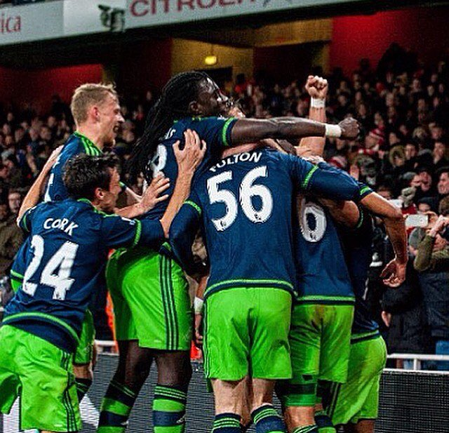 FT Arsenal 1-2 Swansea City (Campbell) (Routledge, Williams) WELL DONE...