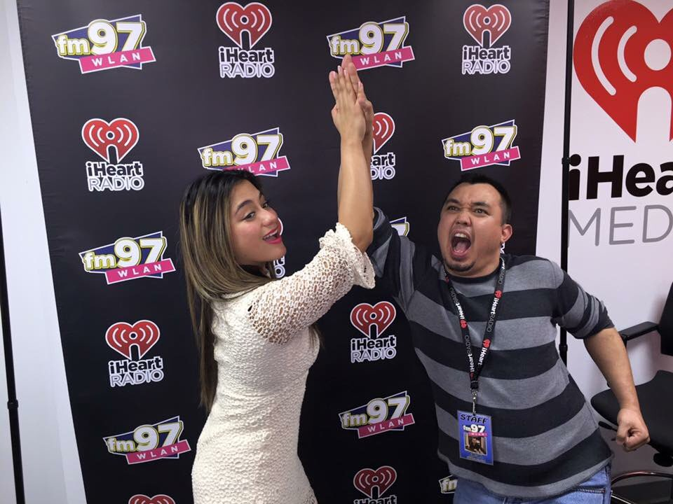 @AllyBrooke with @RadioDC and an epic high five!!! @FifthHarmony #WorkFromHome https://t.co/ruEyu12TnO